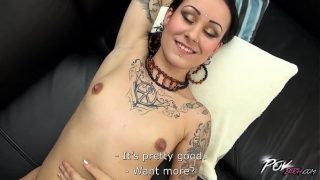 Dirty whore and her first camera audition goes really wild 28 min